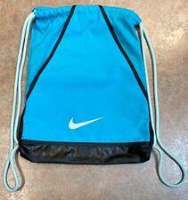 Nike Drawstring Gym Bag || blue/sky blue/turquoise and black