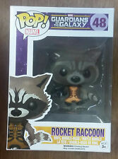 Funko POP! Marvel Guardians of the Galaxy Rocket Raccoon 48 2014 SDCC Flocked