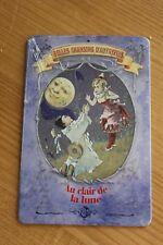 Plaque Tôle non émaillée - Belles Chansons d'Autrefois - Au Clair de la Lune