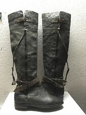 UGG COLLECTION NICOLETTA TALL WEAVE GRAY OVER THE KNEE BOOT US 7 / EU 38 /UK 5.5
