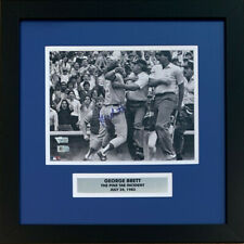 George Brett Autographed Royals Pine Tar Baseball 8x10 Framed Photo Fanatics COA