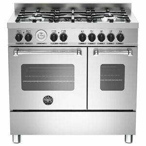 Bertazzoni MAS90-5-MFE-D-XE 90cm Master Dual Fuel Twin Range Cooker, 2 Ovens