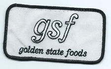 Golden State Foods (Transport Topics top 100 privatecarrier) patch 2-1/2X4-1/2