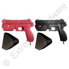 2 x Pack Ultimarc AimTrak Red/Black Arcade Recoil Light Guns & Side Holsters PC