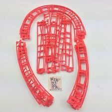 Micro Knex Red Coaster Track Assortment Straight & Curved - 27 Tracks