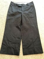 BANANA REPUBLIC Stretch JACKSON FIT Black wide Leg Cropped Capri Pants womens 6