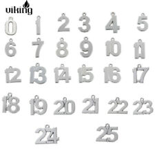 20pcs 0-100 Lucky Number Birthday Gift Weight Charms DIY Pendants fit Bracelet