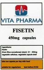 HIGH STRENGTH FISETIN 450mg 365 capsules COGNATIVE SUPPORT HEALTHY MIND