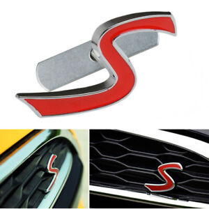 FITS MINI COOPER S GRILL BADGE REPLACEMENT EMBLEM METAL WITH FITTING KIT GRILLE