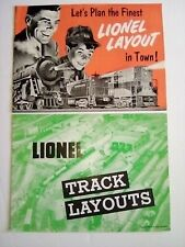 ORIGINAL 1949 & 54 LIONEL LAYOUT  CATALOG Booklets in Excellent Condition