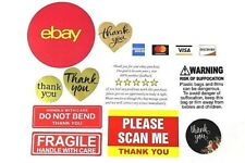 Ebay Sellers Starter Sticker Pack Thank You Stickers Shipping Supplies Fragile