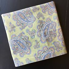 Ralph Lauren Greenvale Pillowcase Green Blue Paisley Standard Size