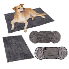 More details for noodle dog wash quick drying mat towel grey microfibre absorbent allpetsolutions
