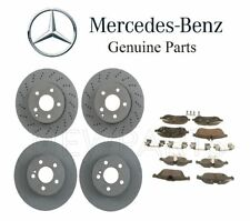 For Mercedes W204 C250 C300 Set of Front & Rear Brake Disc w/ Pads Genuine Kit