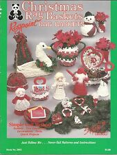 Christmas Rag Baskets Rugpoint Simple Coil Method Susanne McNeill