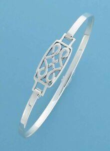 925 Sterling Silver CELTIC Design Clip Bangle