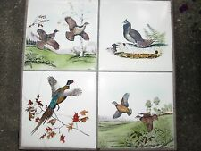 Antique Pheasant Birds Wrought Iron Table with Tiles