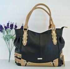 NEW FASHION Women Cross body Satchel Tote Handbag Shoulder Bag BIG STRONG BLACK