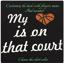 Basketball Mom Shirt Personalized New Basketball Heart Court