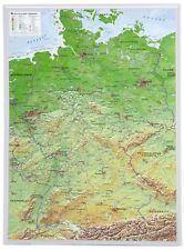 Vrai 3D Relief Allemagne Portrait 57x77cm #100550