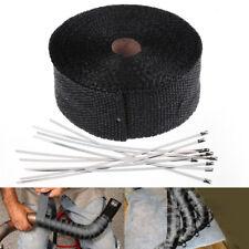 Hitzeschutzband bis1400°Hitzeschutz Heat Fächerkrümmer Krümmerband 10m Schwarz