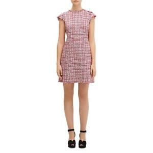 Kate Spade Womens Textured Metallic Daytime Mini Dress BHFO 5939