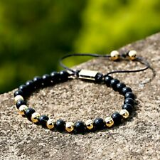 Men Women Natural Lava Stone Copper Beads Hand Made Bracelets Wristband Jewelry