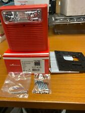 New Cooper Wheelock Red Wall Audible Strobe 24 Vdc 1575 Cd As 241575w Fr