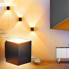 Aplique pared efecto abajo arriba negro dorado salón pasillo dormitorio entrada