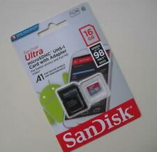 GENUINE 16Gb SanDisk Ultra micro SDHC UHS-I Memory SD Card With 98 MB/s Speed