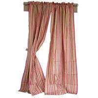 """1 P. Gardinenschals Vorhänge """"Somerset"""" Pink/Grün/Weiß Streifenmuster Baumwolle"""