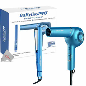 "BaBylissPRO Nano Titanium 1"" Ultra-Thin Straightener & Professional Hair Dryer"
