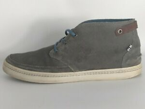 Lacoste Men's Clavel Gray Suede Leather Sneaker Chukka Size 10