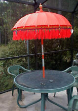 Umbrella One (1)  ornamental Balinese Indonesia approx 7' x 4'  RED or ORANGE