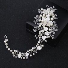 Ornament Wedding Jewelry Tiaras Pearl Acrylic Flower Crystal Bride Hairband