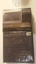 Pintuck Standard Pillow Sham 100% Cotton Charcoal Nwt
