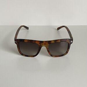 SALVATORE FERRAGAMO Men Havana Brown Square Sunglasses