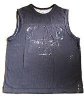 No Boundaries Mens Sleeveless Blue Shirt Size L 42-44 State Athletic Dept 45