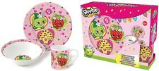 SHOPKINS BREAKFAST KITCHEN SET 3 PIECES CERAMIC - PERFECT GIFT FOR GIRLS - NEW