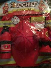 NEW Fire Chief Role Play Costume Set 6 Pcs Melissa & Doug NIP Free Shipping!