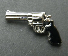 45 Caliber Handgun Revolver Gun Weapon Hat Lapel Pin 7/8 inch