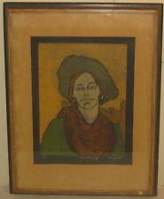 1968 SWIETLAN KRACZYNA 'Ami with a Scarf' ART DECO Etching - Syracuse University