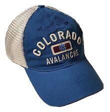 Reebok Colorado Avalanche Hat Slouch Mesh Adjustable Snapback Cap