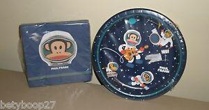 Paul Frank Julius Blue Space Monkey Birthday Party 12 Plates 24 Napkins Set LOT