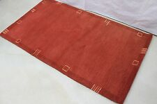 R140 AND CRAFTED CONTEMPORARY TIBETAN MEDITATION RUG 3X5 RED MADE IN NEPAL