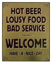 Western Decor Lodge Cabin ~Hot Beer~  Metal Sign