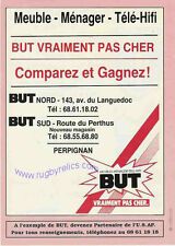 ROUSSILLON SELECT v ARGENTINA 1992 RUGBY PROGRAMME at PERPIGNAN