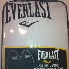 NEW GENUINE WHITE EVERLAST THROW OVERS SLIP ON'S SEAT COVERS X2 Front Seatcovers