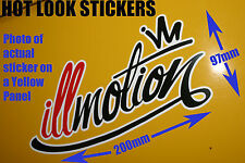 illmotion Sticker jdm Drift Import Decal for ILLEST FATLACE HELLAFLUSH CARS