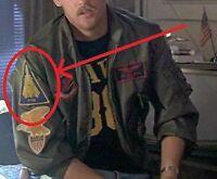 as seen on movie TOPGUN TOP GUN USN PILOT'S FLIGHT JACKET R-SHOULD PATCH